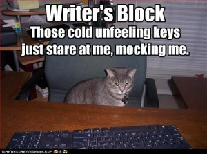 meme of cat staring at keyboard with writer's block